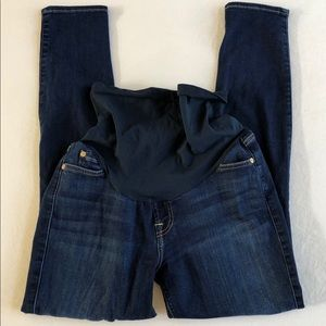 7 FOR ALL MANKIND SKINNY MATERNITY JEANS 30
